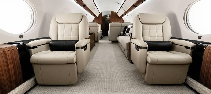 интерьер Gulfstream