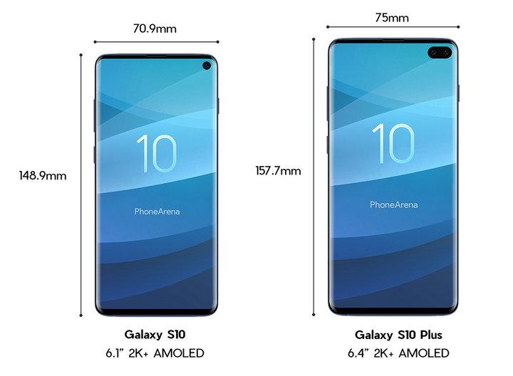 размеры Samsung S10 и s10+