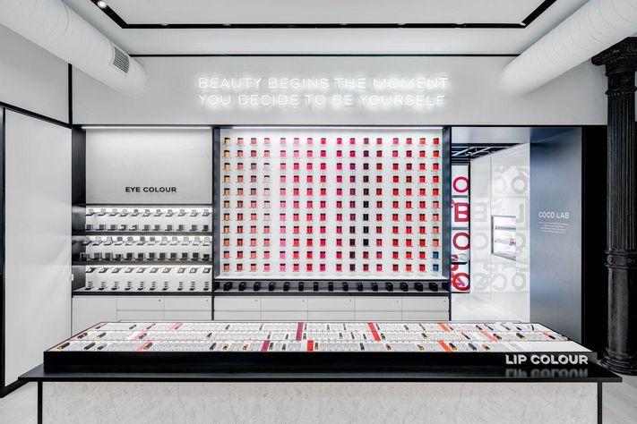 студия красоты Chanel в нью-йорке
