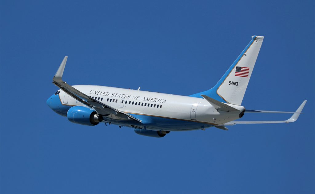 правительственными самолётами