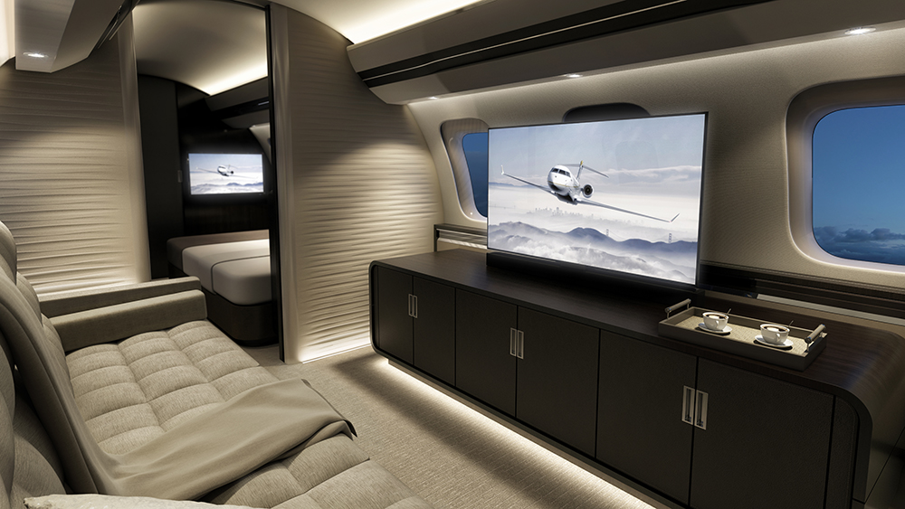 роскошь Bombardier Global 7500