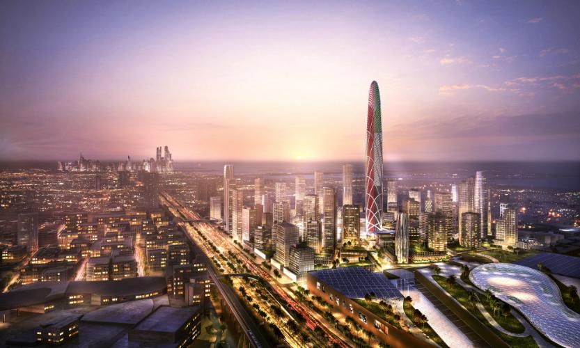 башня Burj Jumeira в Дубаях