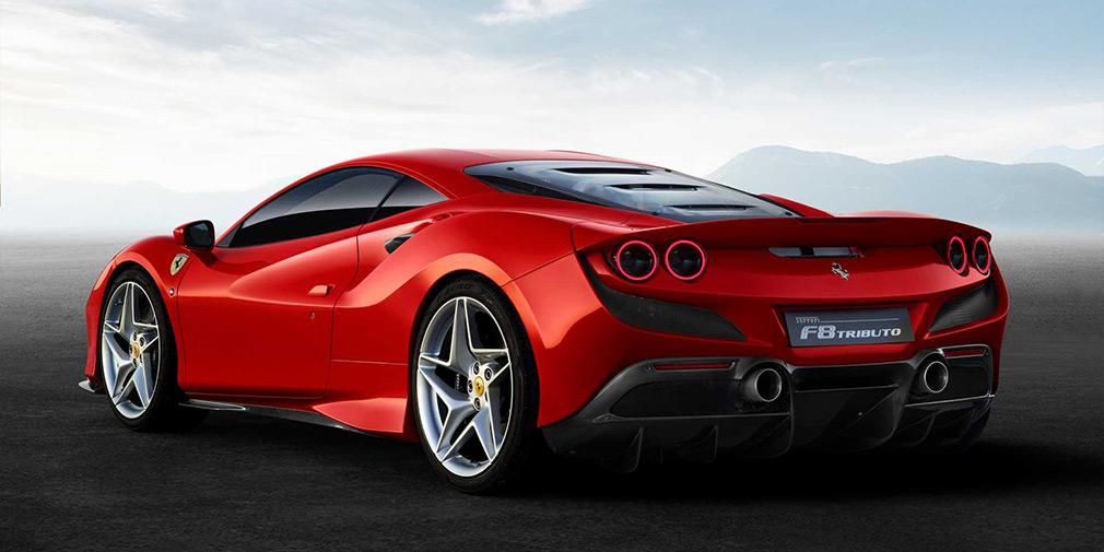 дизайн Ferrari F8 Tributo