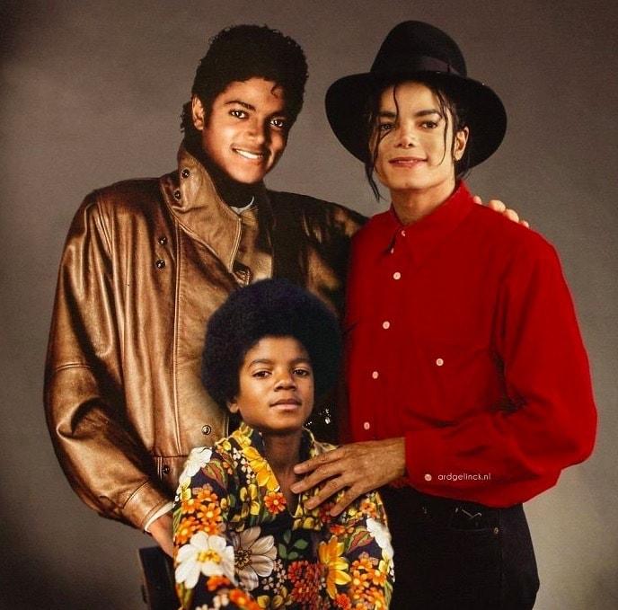 Майкл Джексон запечатлённый в трёх периодах своей жизни