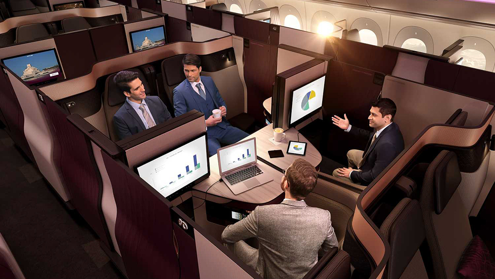 обзор бизнес-класса от Qatar Airways