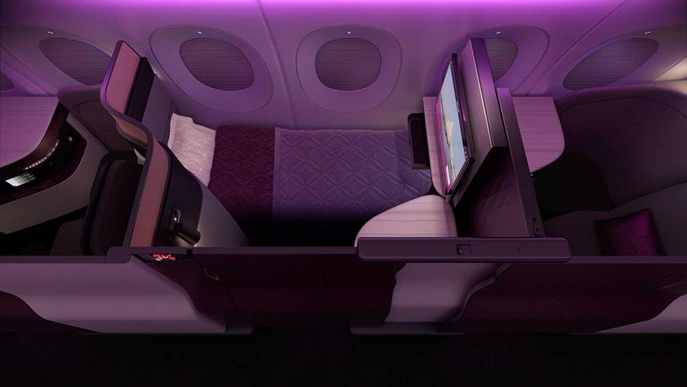 фото роскошный бизнес-класс от Qatar Airways