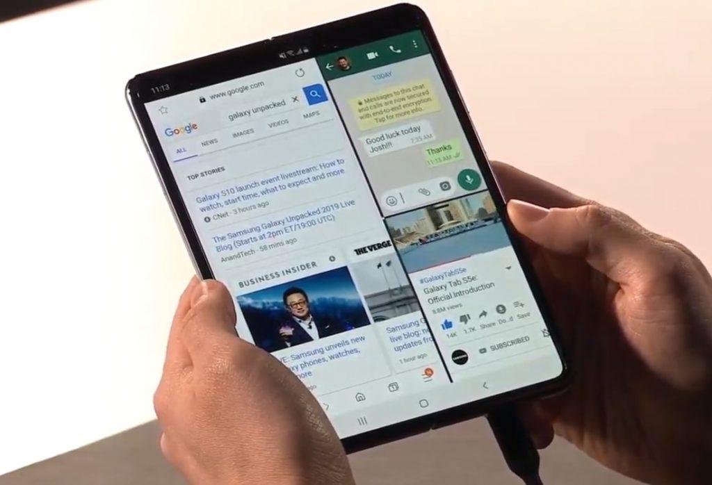 Компания Samsung наконец представила свой складной смартфон Galaxy Fold