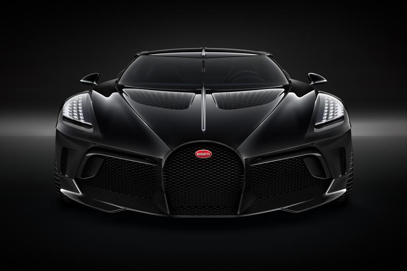 Bugatti La Voiture Noire вид спереди