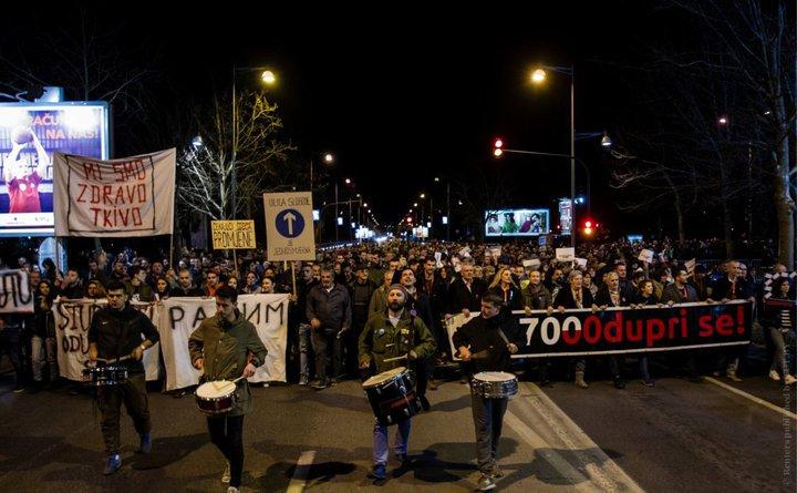 В Черногории протестующие требуют