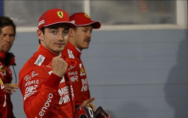 первый ряд у Ferrari