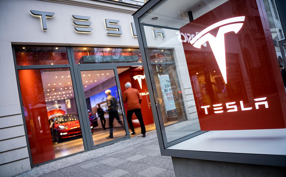 Падение акций Tesla