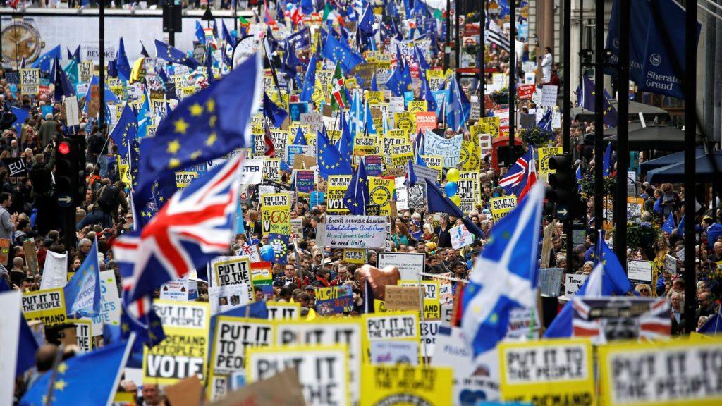 митинг за второй референдум по Brexit