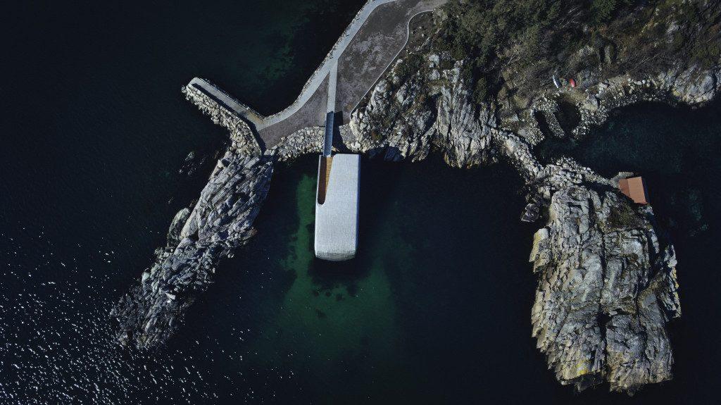 вид ресторана под водой