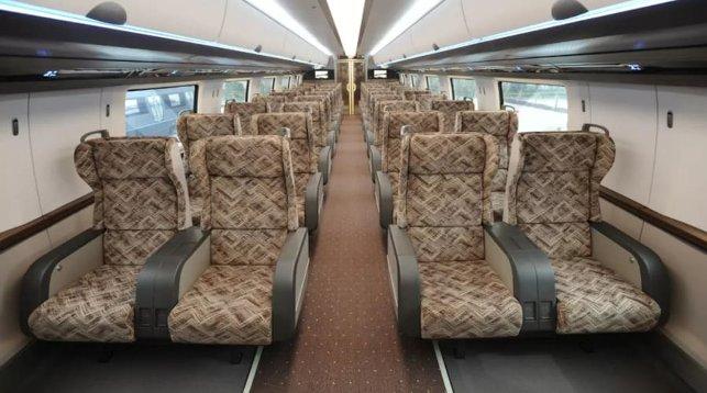 салон суперскоростного поезда