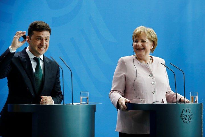Встреча Меркель и Зеленского
