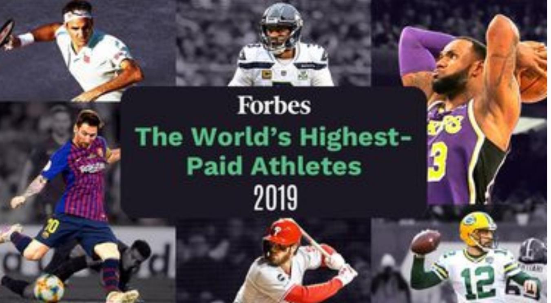 доходы спортсменов