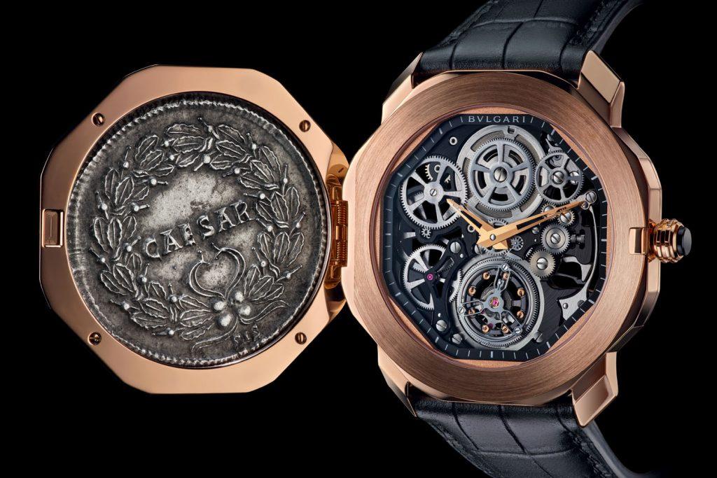 часы с монетой булгари