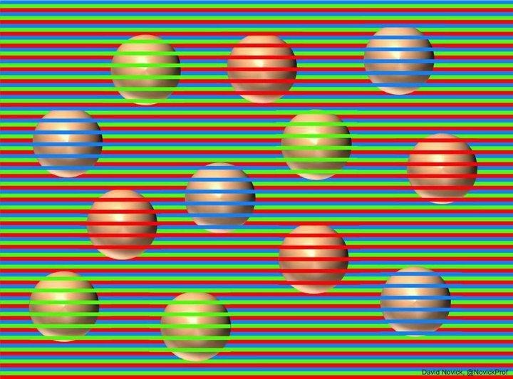 иллюзия с цветными шариками