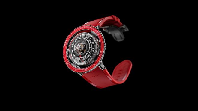MB & F HM7 Platinum Red