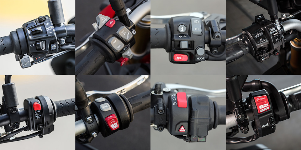 Расположение кнопок у мотоциклов