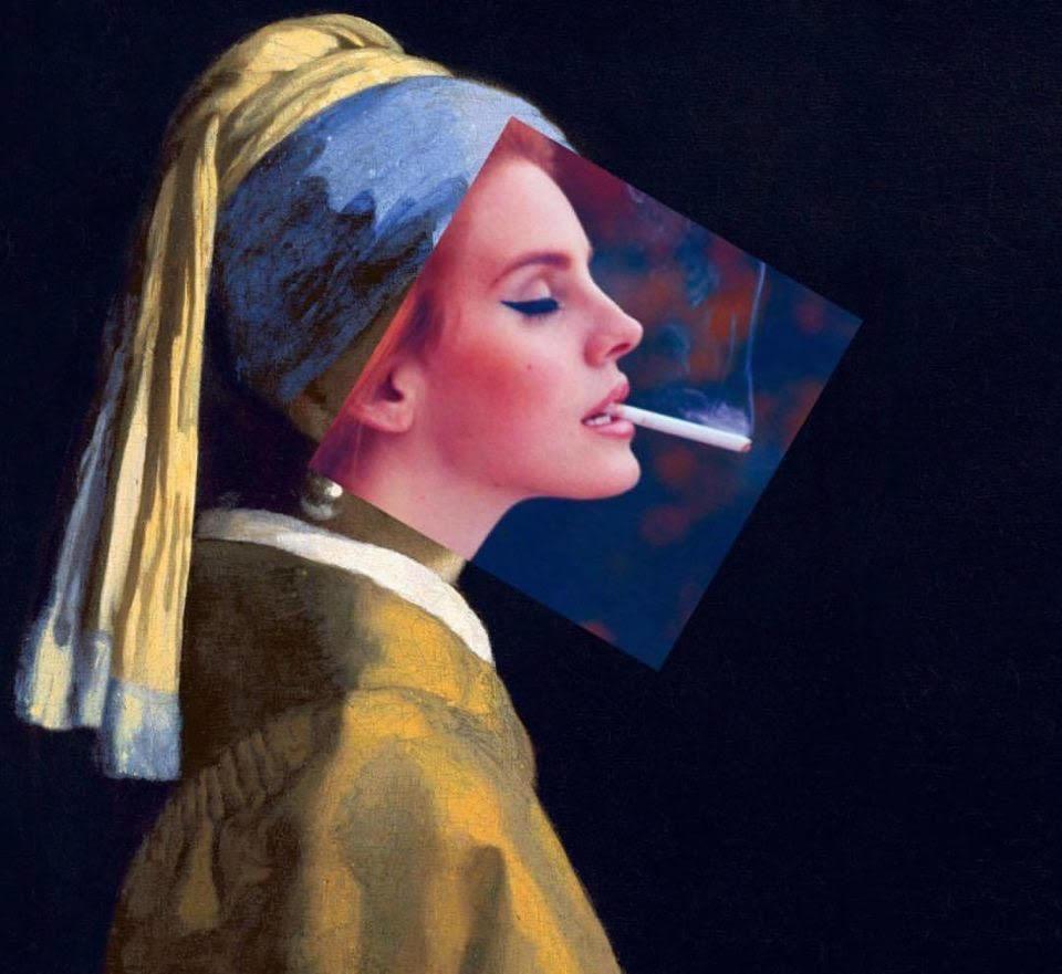 курит в современном искусстве