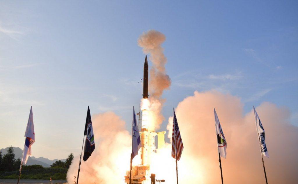 Испытания ракетного комплекса Hetz-3