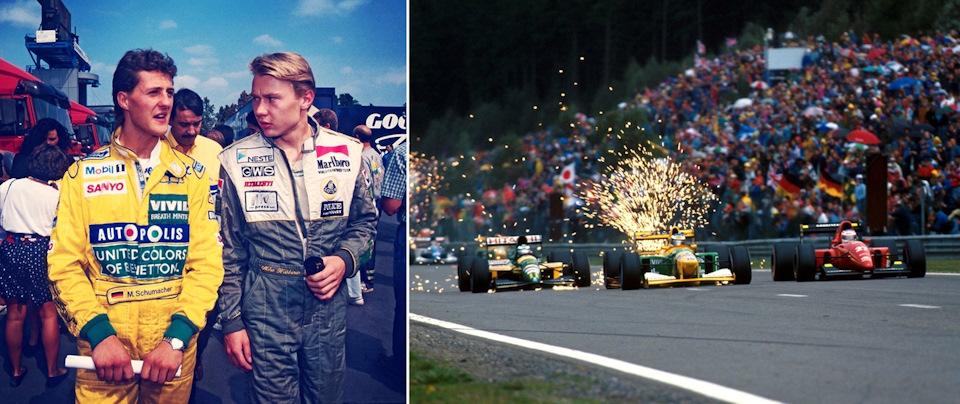 Гран При Италии '91, Михаэль и Мика — гонщики Формулы-1