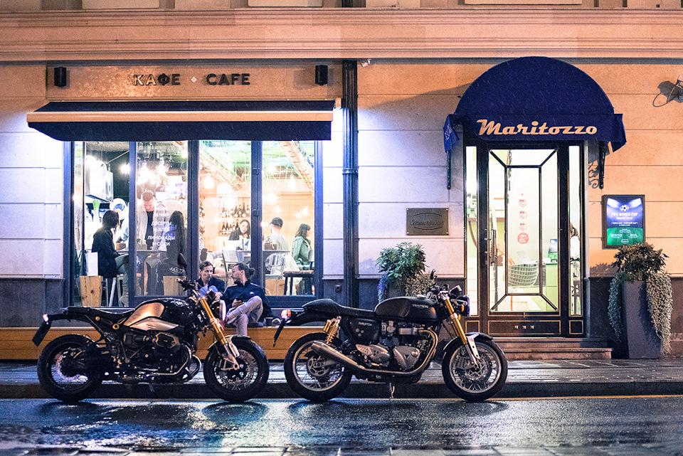 BMW R nineT и Triumph Thruxton 1200 R