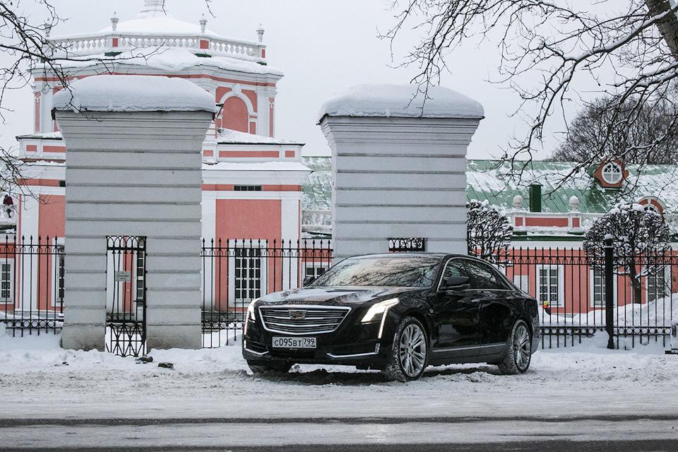 Cadillac CT6 зимой