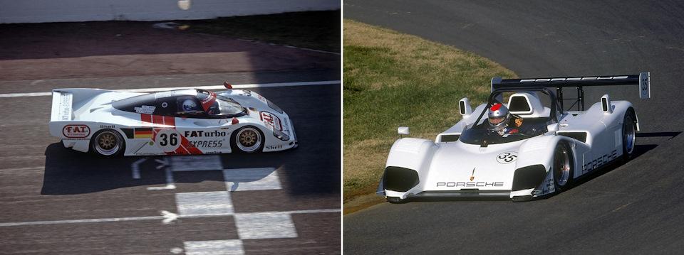 Мауро Бальди ведет Dauer 962 Le Mans Porsche