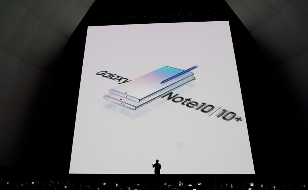 презентация Samsung Galaxy Note 10 и 10+