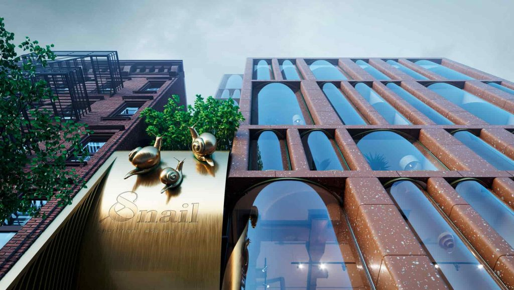 The Snail Apartments проект жилого комплекса в нью-йорке