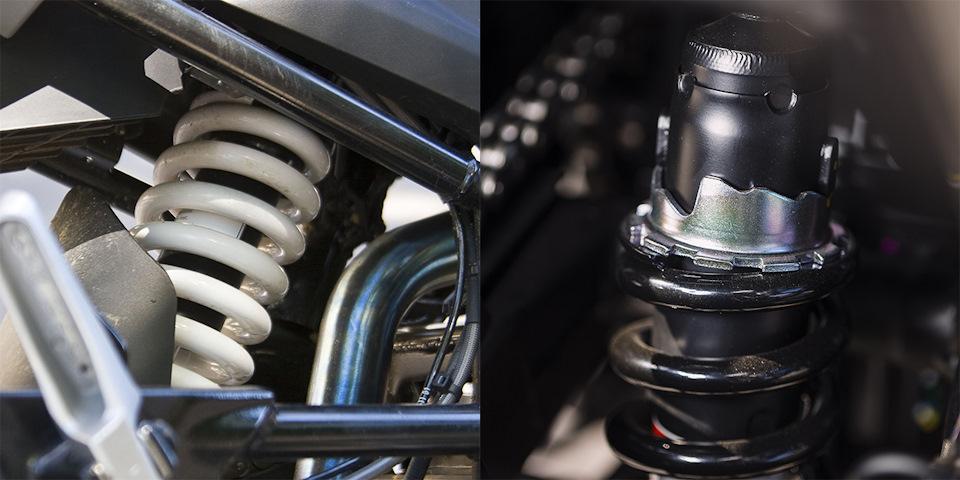 Подвески настроены в соответствии с фирменной философией каждой марки: помягче — у BMW, пожёстче — у Kawasaki