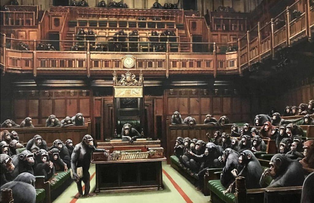 Картина Бэнкси «Преданный парламент»