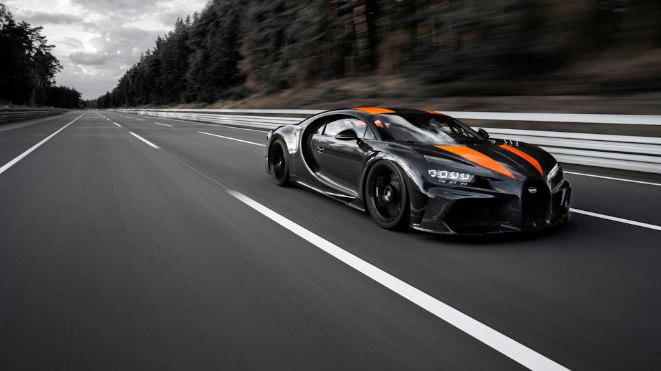 Chiron Super Sport 300+ на трассе