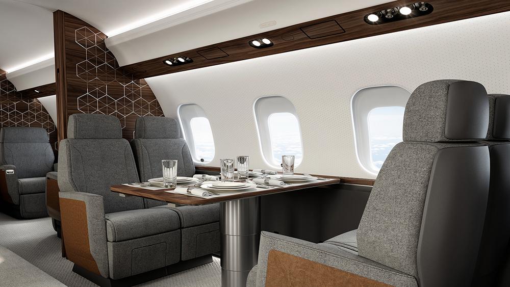 Bombardier Global 6500 интерьер