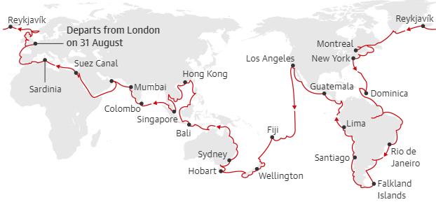 Viking Ocean Cruises маршрут