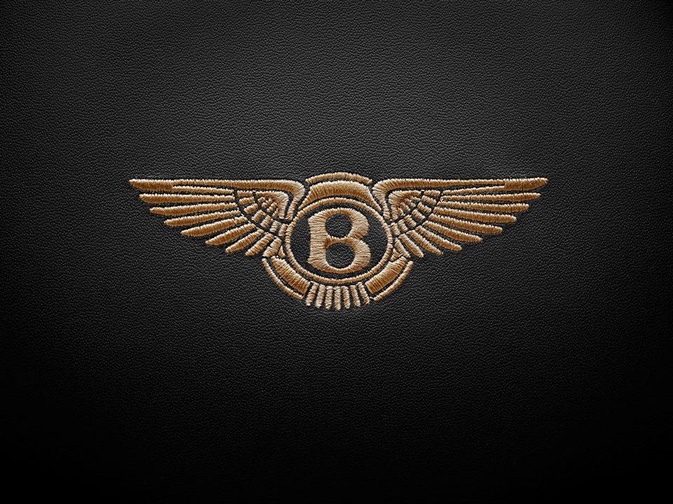 вышитый логотип бентли