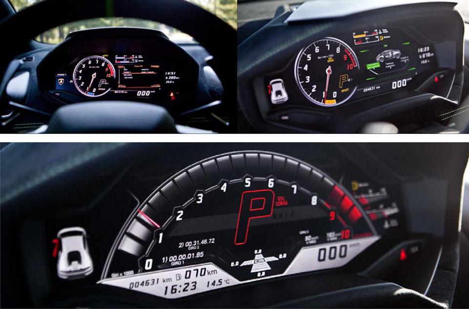 Lamborghini Huracan Performante приборы