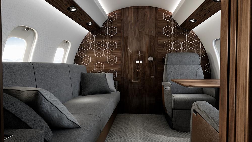 Bombardier Global 6500 салон