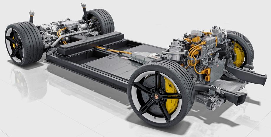 Porsche Taycan шасси