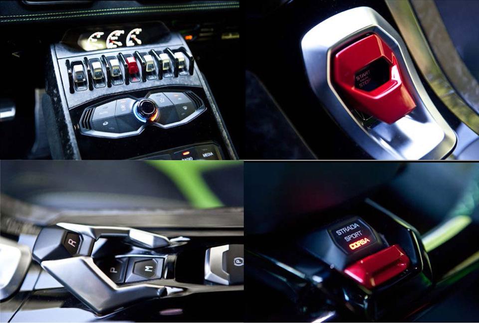 Lamborghini Huracan Performante кнопки