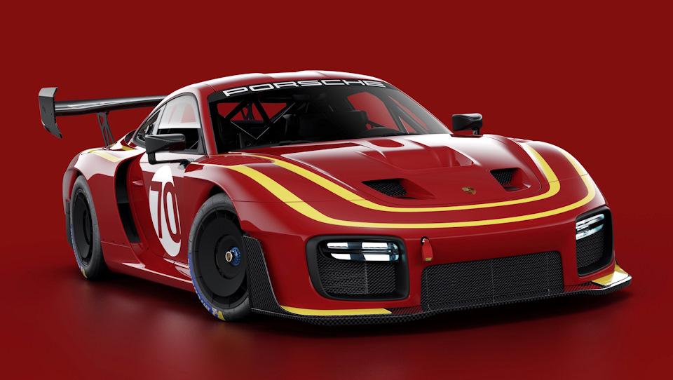 Porsche 935 в красной ливрее Momo Racing