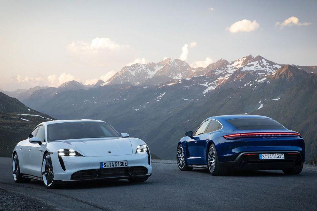 Porsche Taycan в двух версиях
