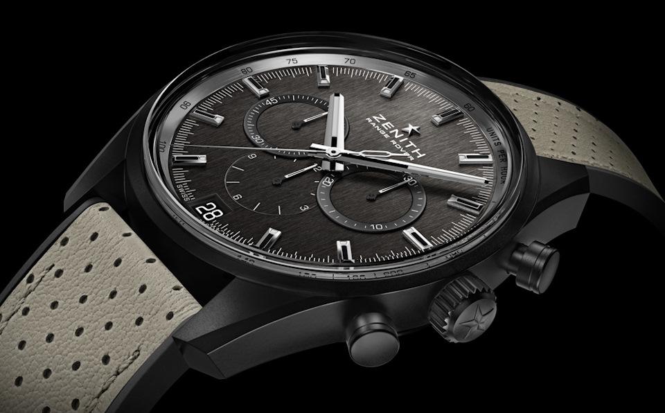 для Range Rover соответствующие по дизайну хронографы подготовили  Zenith