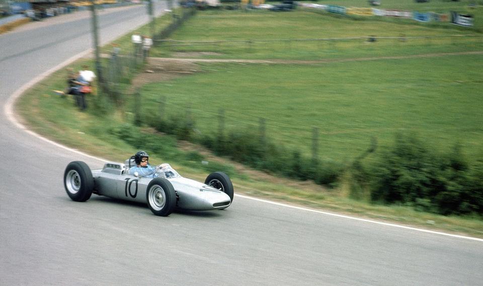 Дэн Герна (Porsche 804) на внезачетном Гран При Солитьюд '62