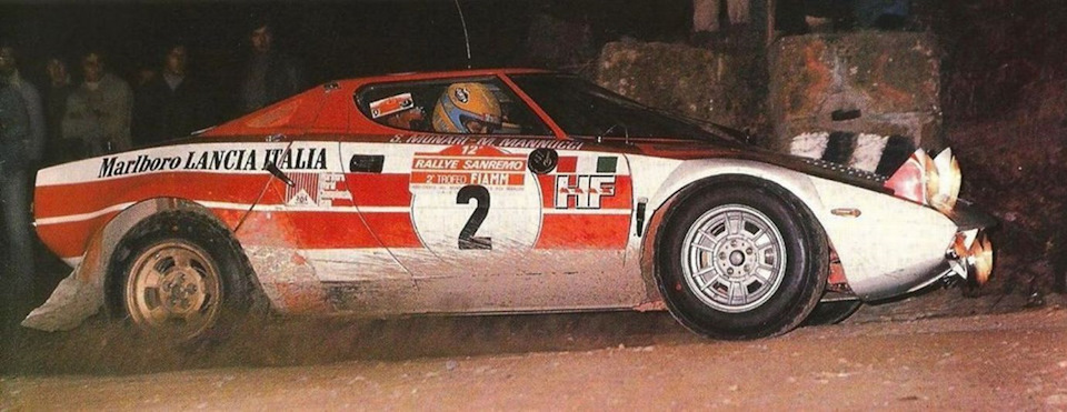 Сандро Мунари и Марко Мануччи на пути к победе в «Ралли Сан-Ремо» '74.