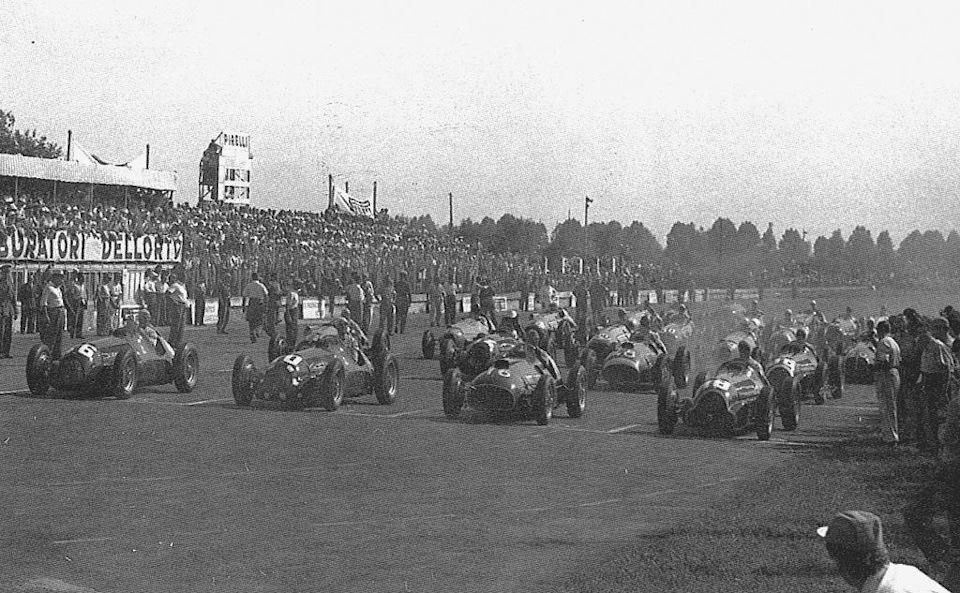 Старт Гран При Италии '50