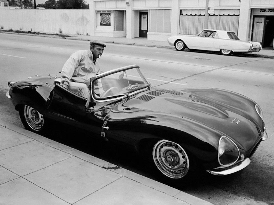 Стив МакКуин и его Jaguar XKSS.