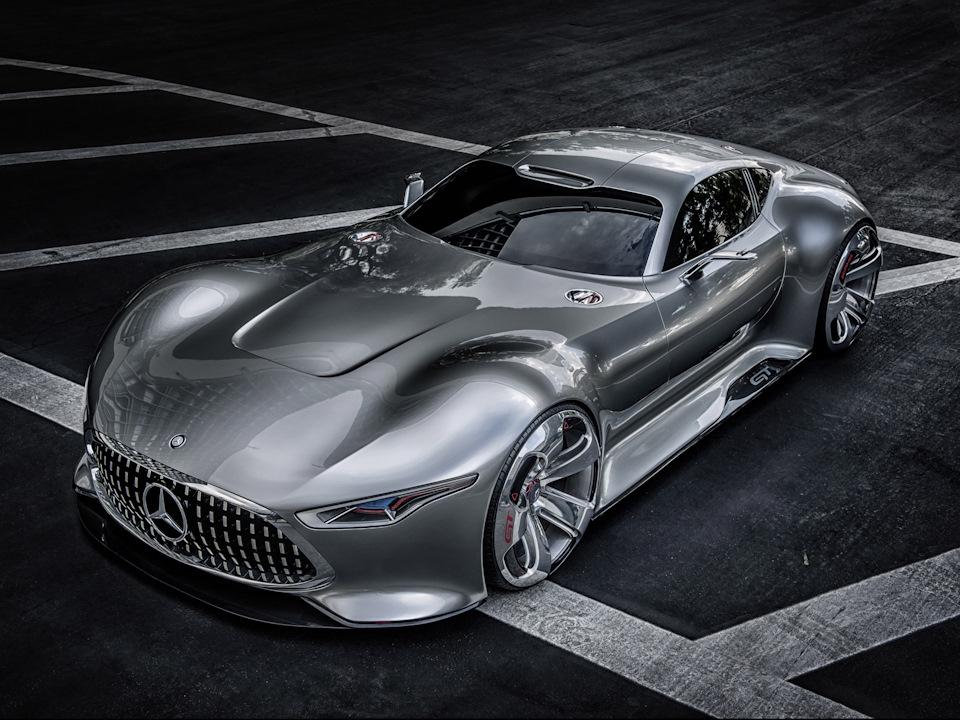 длинный нос Mercedes-Benz AMG Vision